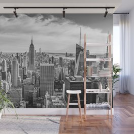 New York City Cityscape (Black and White) Wall Mural