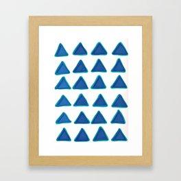 Blue Triangles Framed Art Print