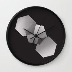 Dancing Hexagons Wall Clock