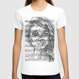Music Sheet Girl 1 T-shirt