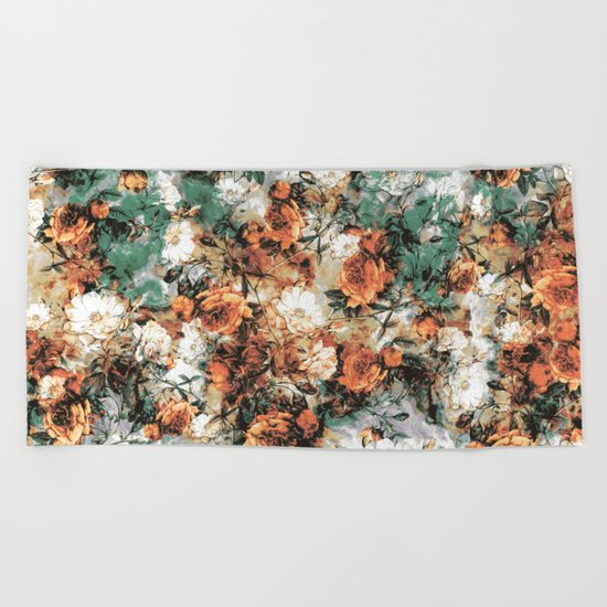 ABSTRACT ROSES Beach Towel