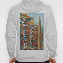 Vancouver Two Worlds Collide Landscape Painting Hoody