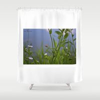 lady Shower Curtains featuring Lady by Darkest Devotion