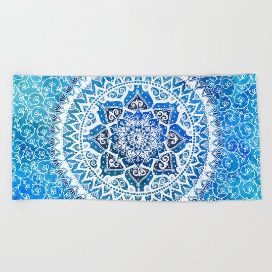 Watercolour Yin Yang Mandala Beach Towel