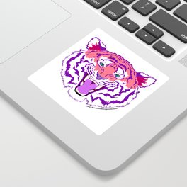 Pink Endangered Sticker