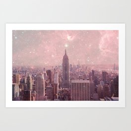 Stardust Covering New York Art Print