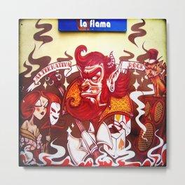 La Flama Metal Print