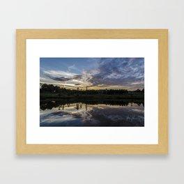 cloudscapes of north carolina Framed Art Print
