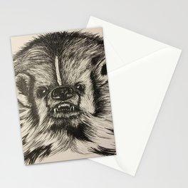 Badger Bad Original b/w ink Stationery Cards