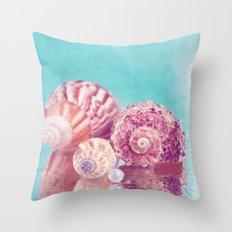Seashell Group Throw Pillow