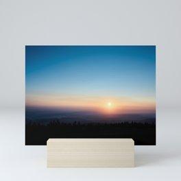 Sunrise in the Harz mountains Mini Art Print