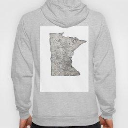 Old Map of Minnesota Hoody