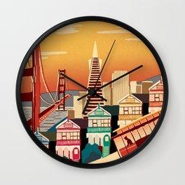 san francisco new art love illustration cute cover case skin floor pillow 2018 trend popular sticker Wall Clock