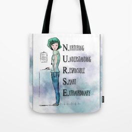 Nurse with Stethoscope Tote Bag