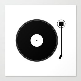gramofon Canvas Print