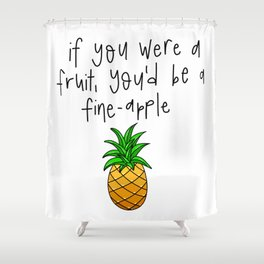 Fine-apple Shower Curtain