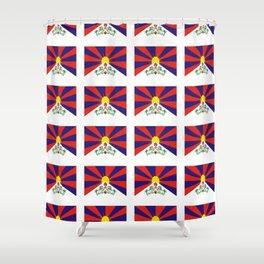 flag of thibet,བོད,tibetan,asia,china,Autonomous Region,everest,himalaya,buddhism,dalai lama Shower Curtain