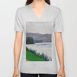 Edge Of The Seine At Tournedos - Digital Remastered Edition Unisex V-Neck
