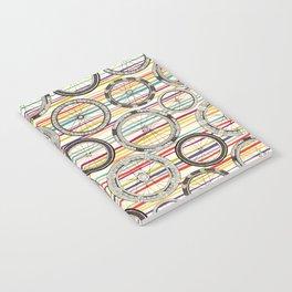 bike wheels stripe Notebook