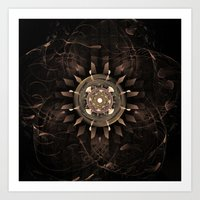 clockwork Art Prints featuring Clockwork by CreativeByDesign