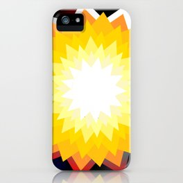 summer sun with planet iPhone Case