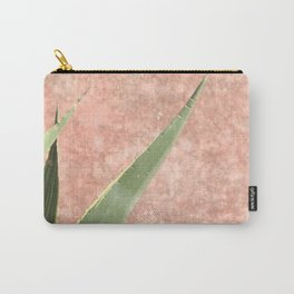 Weathered pink wall and cactus Carry-All Pouch