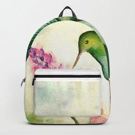 Hummingbird & Lupine watercolor Backpack