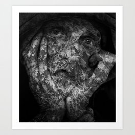 Weathered Man Art Print