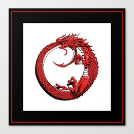 The Wyrm Turned Red Canvas Print