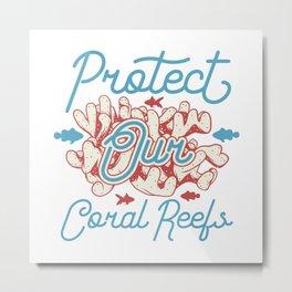 Beach Fun - Coral Reef - Protect Metal Print