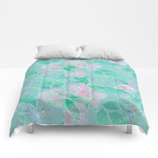 Soft Spring Floral Comforters