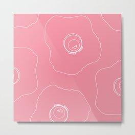 Pink Eggs Metal Print