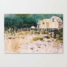 fish shacks Canvas Print