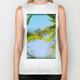 Palm Trees Tropical Photography Biker Tank