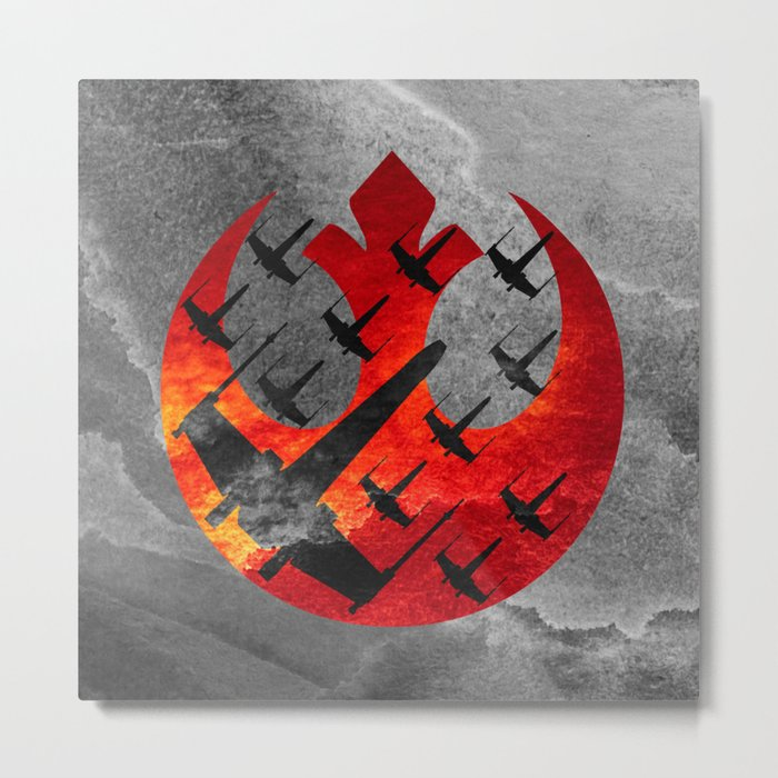 Star Wars Wraith Squadron in the Clouds Metal Print