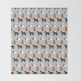 Labradoodle family Throw Blanket