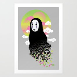 No Face and Soot Sprites Art Print