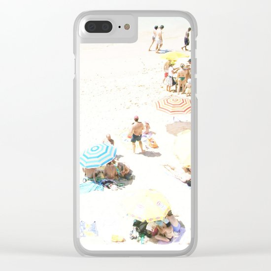 beach XXI Clear iPhone Case