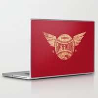 quidditch Laptop & iPad Skins featuring Vintage Gryffindor Quidditch Team by Gurven