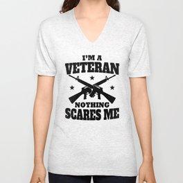 I'm a Veteran nothing scares Me Unisex V-Neck