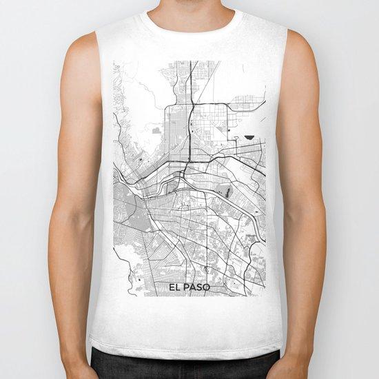 El Paso Map Gray Biker Tank