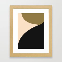 Less is more tri color abstract Framed Art Print