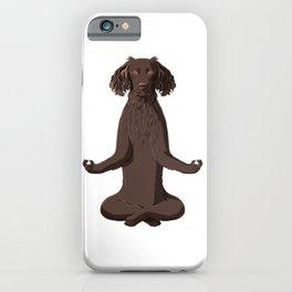 Meditating German Spaniel Dog iPhone Case