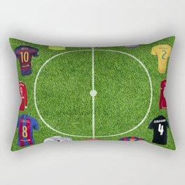 Football soccer best players clock Rectangular Pillow