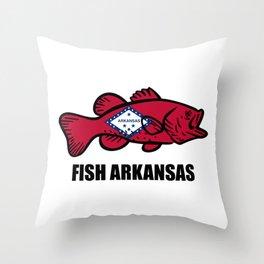 Fish Arkansas Throw Pillow