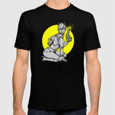 Robot Pinup MEDIUM Mens Fitted Tee Black