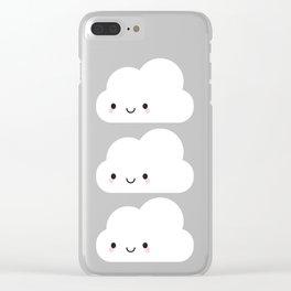 Happy Kawaii Cloud Clear iPhone Case