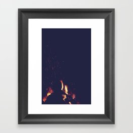 FIRE 3 Framed Art Print