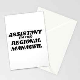 assistant to the regional manager Stationery Cards