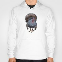 turkey Hoodies featuring wild turkey by Ruud van Koningsbrugge
